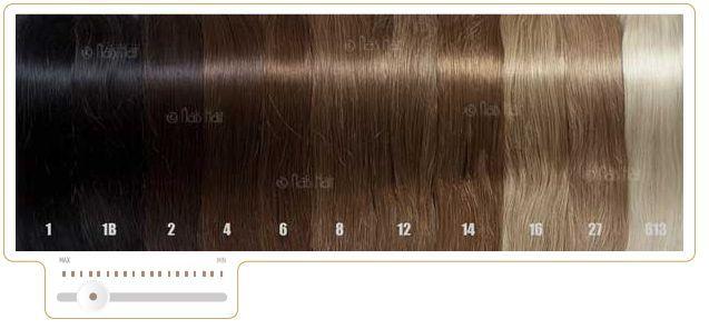 Color de las cortinas de pelo