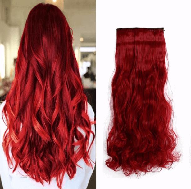 extensiones rojas