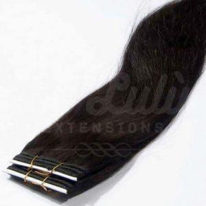 cortinas de cabello negro natural
