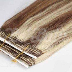 cortinas de pelo castaño mechas platino