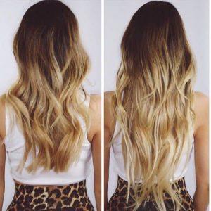 extensiones californianas blonde