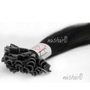Extensiones de Queratina Color #1 (Negro Azabache)