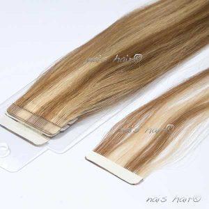 """Extensiones Adhesivas PREMIUM - Color Rubio con Mechas (8/613) 50cm (20"""")"""