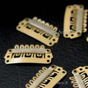 peinetas clips para extensiones color rubio vainilla