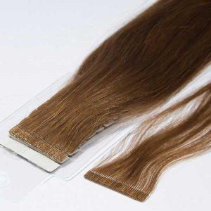 extensiones de pelo adhesivas color castaño claro
