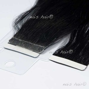 extensiones de pelo adhesivas color negro azabache