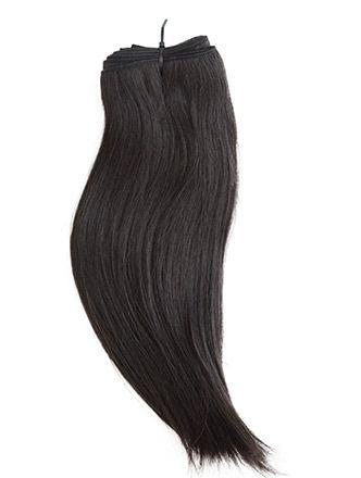 extensiones de pelo natural virgen indio cosido liso