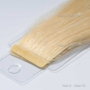 extensiones de pelo adhesivas color rubio platino