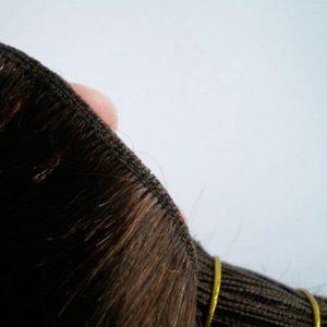 extensiones de pelo natural virgen indio cosido