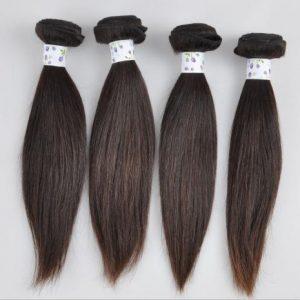 extensiones de pelo natural virgen brasileño liso