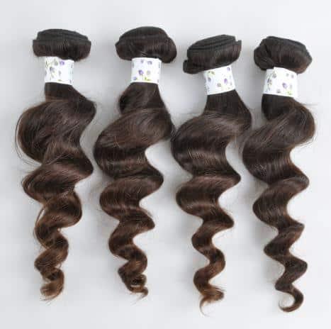 extensiones de pelo natural virgen brasileño ondulado